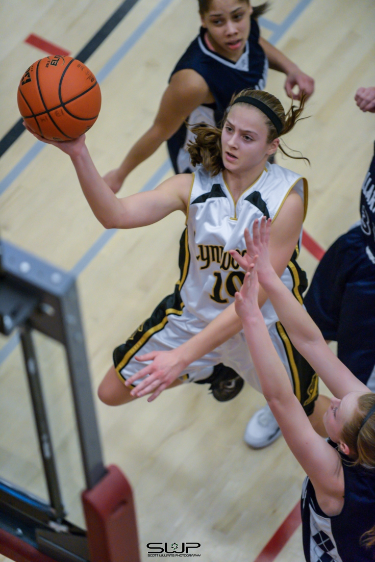 Mikayla Pivec elevates in lane  for layup against  Bellarmine Prep (March 1, 2014)